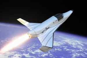 A virtual photo of XCOR Aerospace's Lynx was unveiled in Beverly Hills, California, on March 26, 2008. The Lynx, a suborbital winged vehicle will carry a pilot and a passenger to the edge of space and return about 25 minutes later, landing like an airplane. The first flight will take place in the FAA-licensed Mojave Air and Space port in California in 2010.