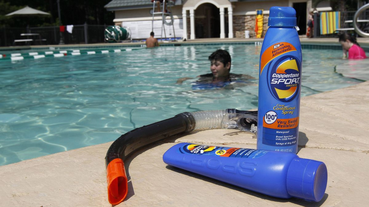 Devon Garrison plays in the pool at the clubhouse of his sub-division in Montgomery, Ala., Tuesday, June 14, 2011.