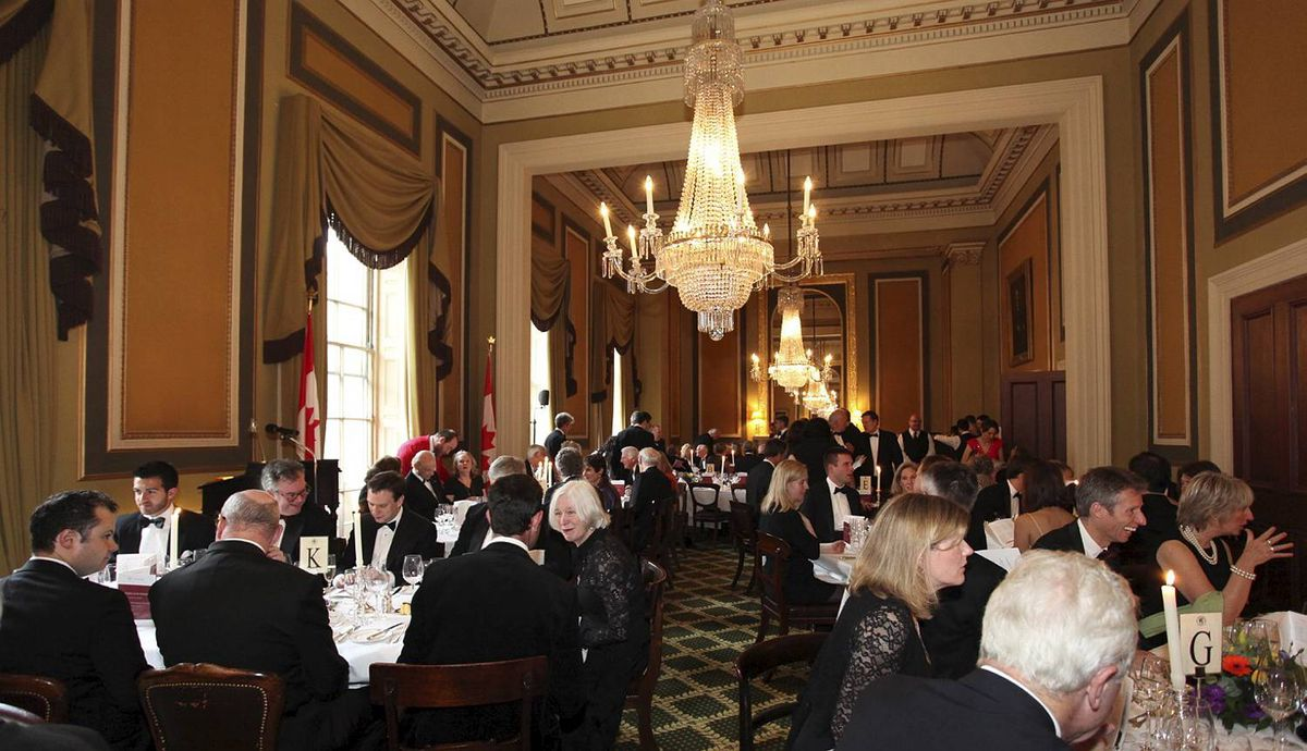 Canada Club Dinner at Travellers Club, Pall Mall, London 21 May 2012. Photographer Amanda Clay. The historic Travellers Club, established 1819