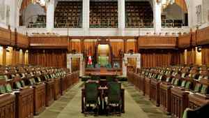 The House of Commons sits empty on Parliament Hill in 2006.