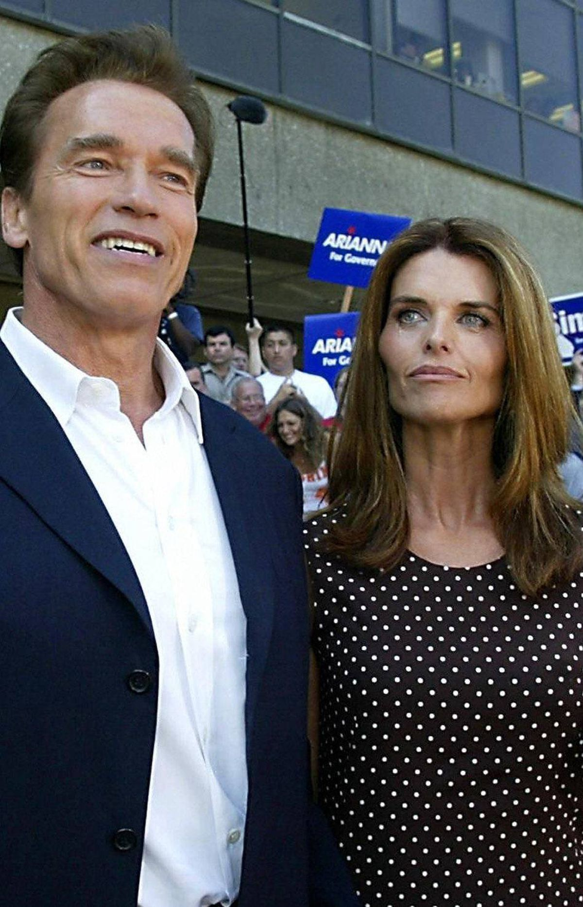 Maria Shriver vs. Arnold Schwarzenegger Their marriage had long been rumoured to be on the rocks, but the scandal that finally terminated it after 25 years was a bombshell: Schwarzenegger had fathered a son with a member of their household staff. Word of the 13-year-old extramarital child leaked out days after the couple announced their separation. Verdict: Schwarzenegger. Shriver gets the sympathy vote now, but Arnold will be back: He's already shot a film, and there's reportedly an autobiography in the works.