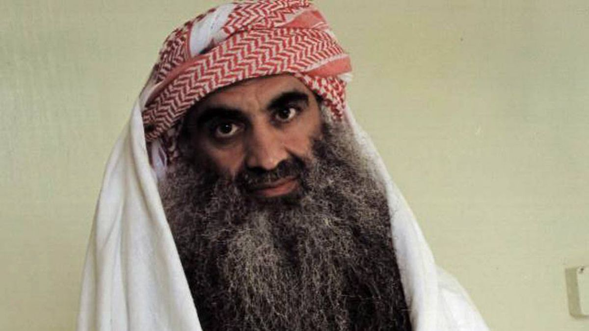 Khalid Sheikh Mohammed, shown in a recent photo, will face a military trial for the Sept. 11 terrorist attacks.
