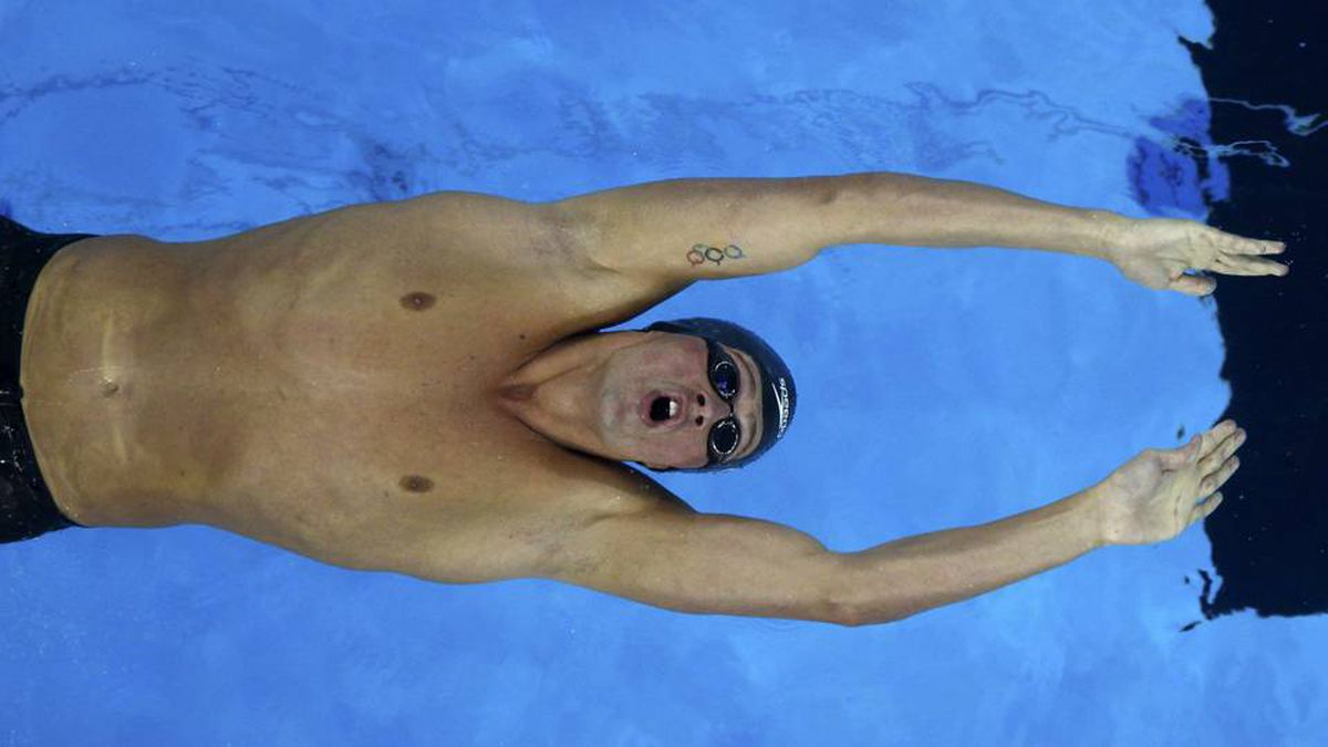 Ryan Lochte of the U.S. competes in the men's 200m backstroke final at the 14th FINA World Championships in Shanghai July 29, 2011.
