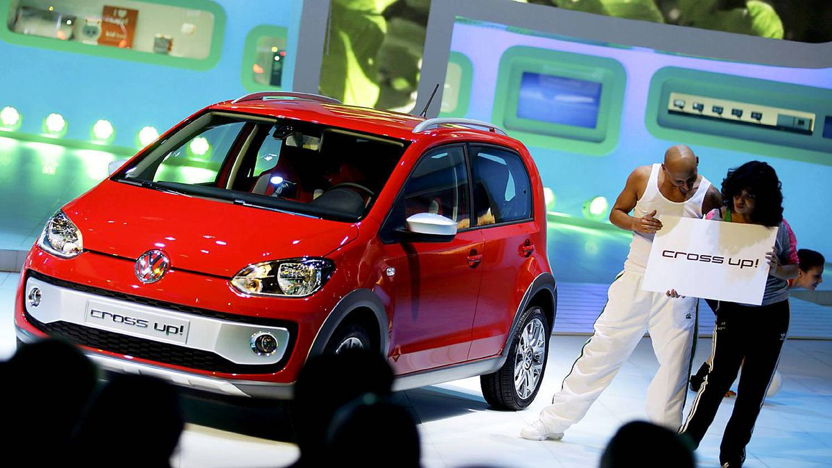 "The new VW Volkswagen ""Up!"" city car"