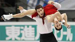 Canada's Tessa Virtue and Scott Moir skate during the ice dance free skate program at the International Skating Union Grand Prix of Figure Skating finals at the Pavillon de la Jeunesse in Quebec City Dec. 11, 2011.