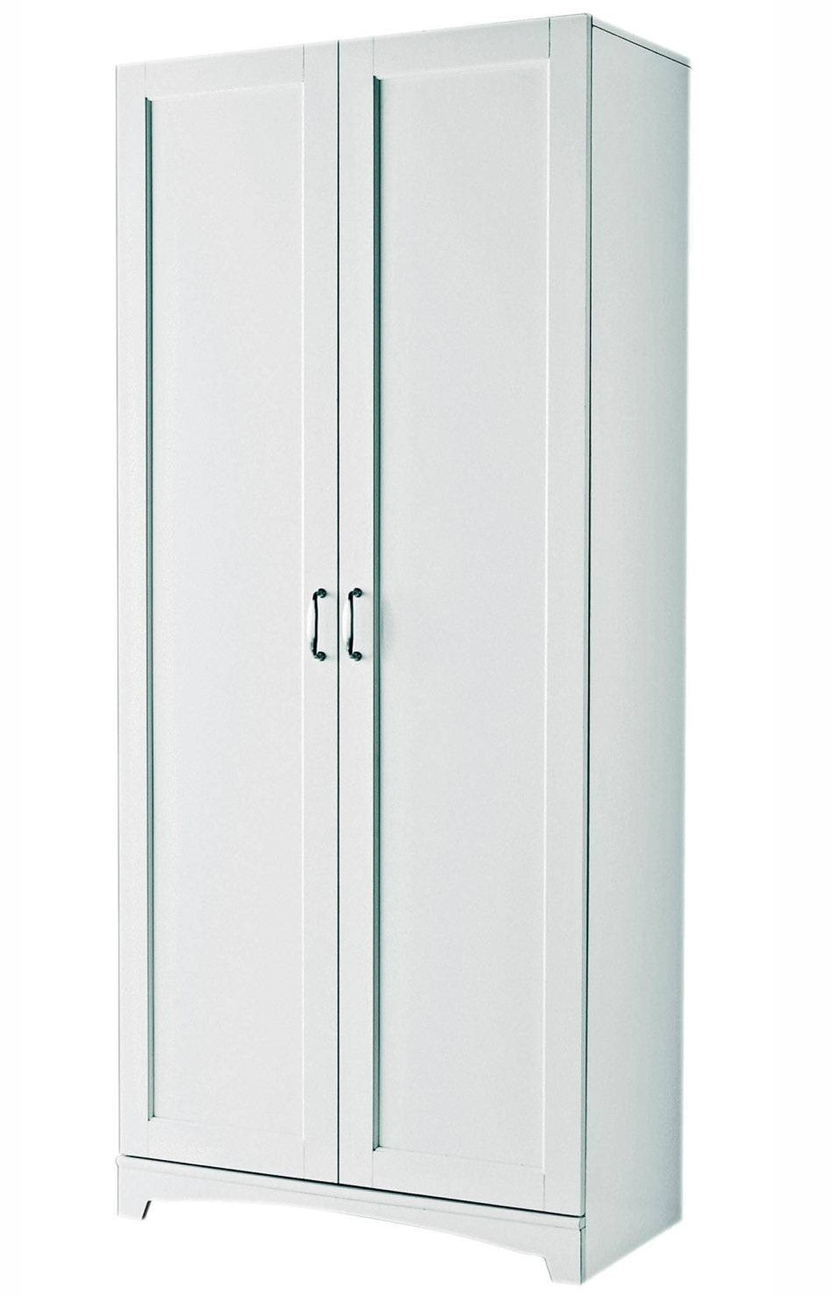 For Living's Brighton Cabinet features simple trim detailing, a decorative baseboard and brushed nickel hardware as well as five deep shelves for ample storage within. $139.99 at Canadian Tire (www.canadiantire.ca).