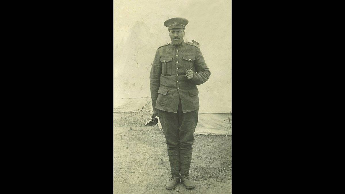 Peter Robinson photo: My grandfather Edward Clement who died May 8, 1918, from his wounds suffered in a German gas attack a few days earlier. This photo is the only picture I have to remember him by.
