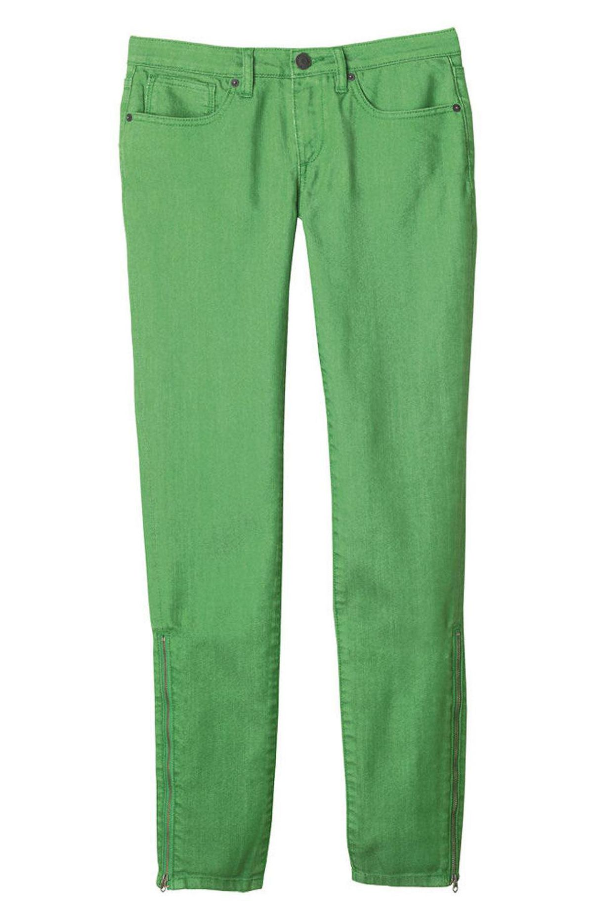 FRESH AT JOE FRESH Looking to create a stir on casual Friday at the office? Try sashaying in wearing a pair of bright green pants (these slim green men's jeans are $39 through www.joefresh.com).