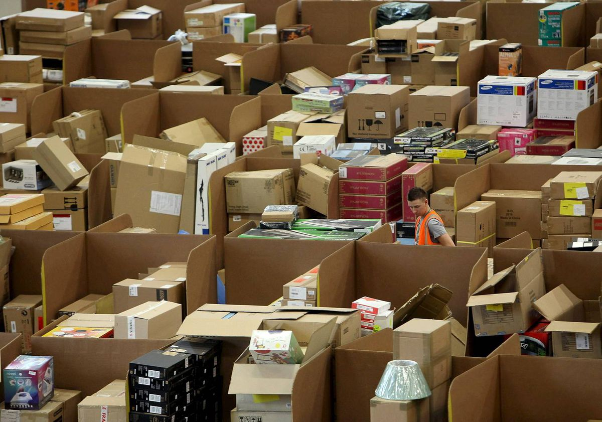 Amazon Warehouse Employees Prepare For Their Busiest Time Of Year