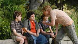 A scene from the 2008 movie Drillbit Tayor, in which three children hire a low-budget bodyguard to protect them from the playground bully.