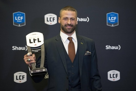 Edminton Eskimos QB Mike Reilly honored as CFL's outstanding player