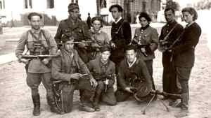 Vitka Kovner, a Jewish woman who fought Nazis in the 1930s, is pictured on the far right.