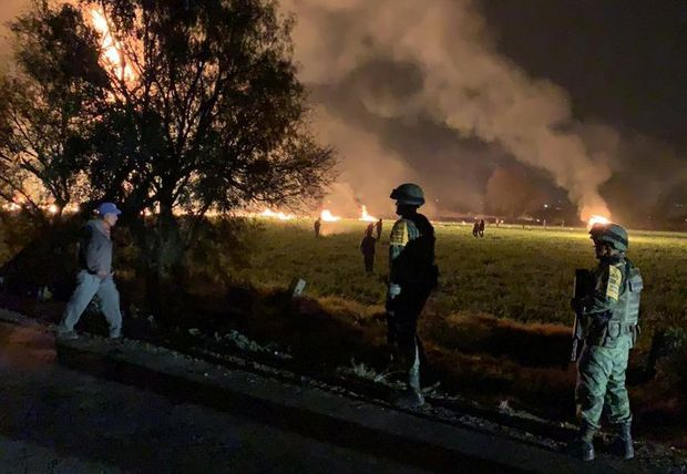 Pipeline explodes in central Mexico, killing at least 21