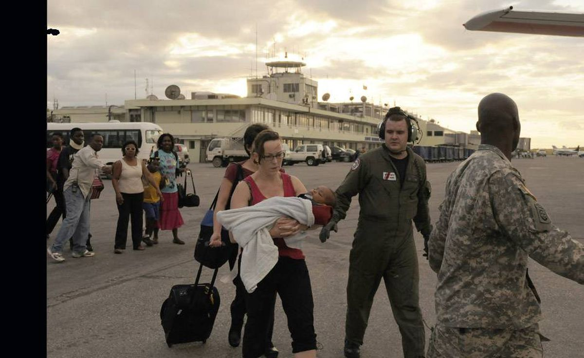 US Coast Guard personnel evacuated Wednesday nearly 140 U.S citizens from earthquake ravaged Haiti.