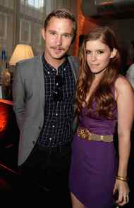 """TORONTO, ON - SEPTEMBER 12: Actor Brian Geraghty and Actress Kate Mara attend the """"Ten Year"""" dinner hosted by GREY GOOSE Vodka at Soho House Pop Up Club during the 2011 Toronto International Film Festival on September 12, 2011 in Toronto, Canada."""
