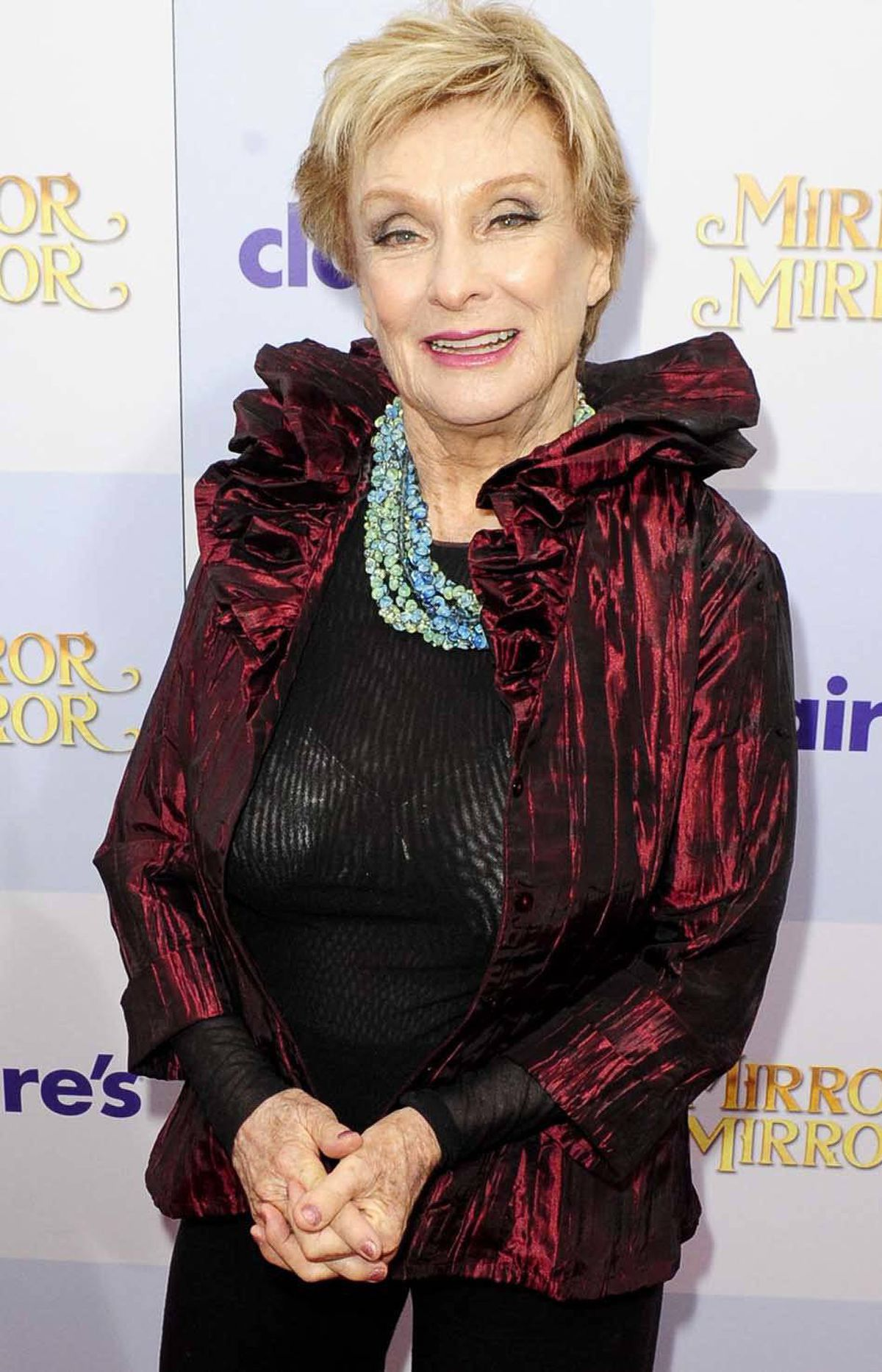 "Actress Cloris Leachman is the quintessence of the poorly chosen shirt and bra combination at the premiere of ""Mirror Mirror"" in Los Angeles on Saturday."