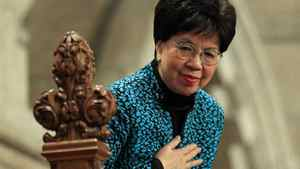 World Health Organization director-general Margaret Chan is recognized by MPs in the House of Commons on Nov. 21, 2011.