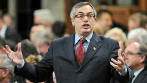 Treasury Board President Tony Clement speaks during Question Period in the House of Commons on Feb. 29, 2012.