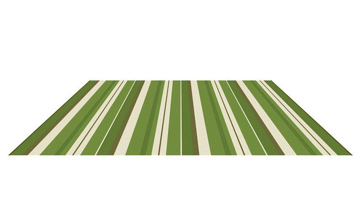 Ground effect Bring indoor style to outside seating areas with one of Ontario-based Korhani's unusually elegant polypropylene outdoor rugs that are UV-treated to resist fading. 71-by-114-inch Korhani Bowers rug in Green-Beige, $40 at Wal-Mart Canada