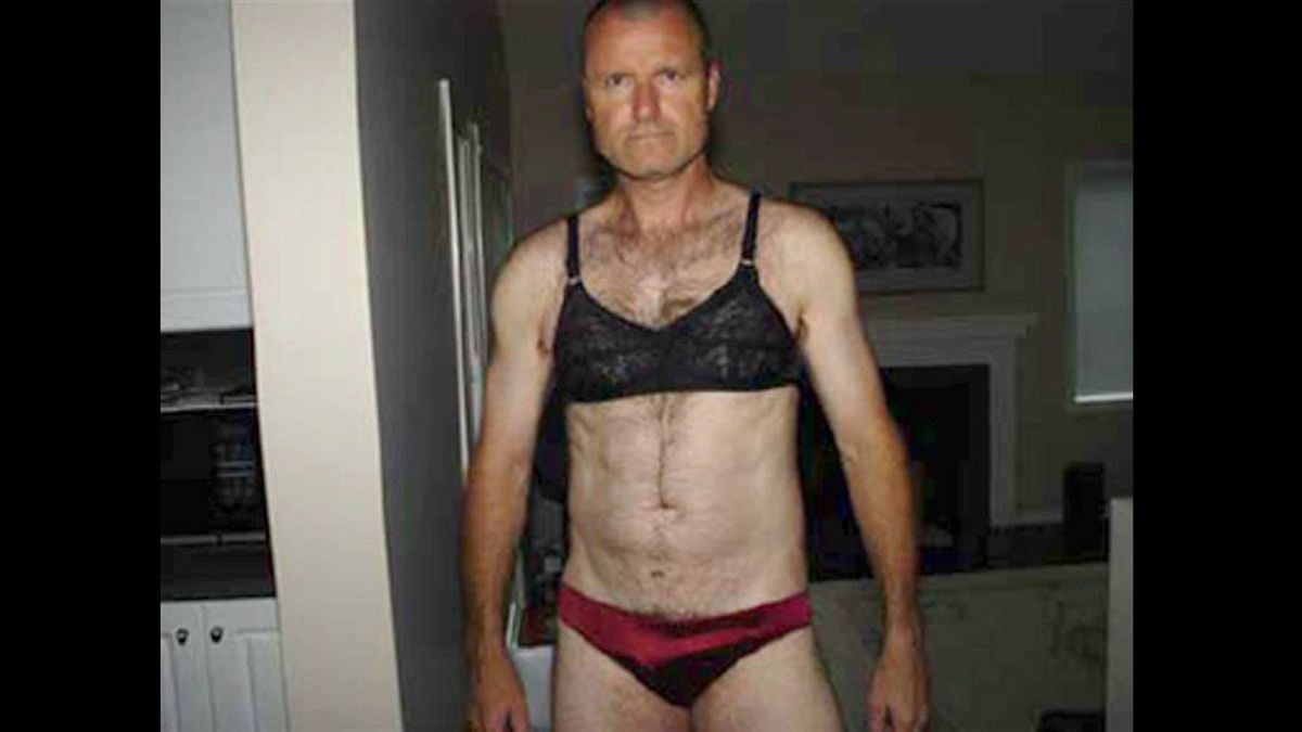 """The collection of """"extremely disturbing"""" photos presented in court (some of which we show here) shows Col. Williams's path from stealing lingerie and wearing women's clothes to a terrifying sexual assault and eventually murder."""
