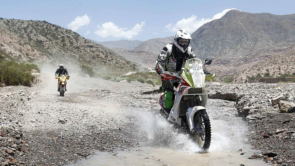 France's Pierre Cherpin rides his KTM during the third stage of the fourth South American edition of the Dakar Rally 2012 from San Rafael to San Juan January 3, 2012.