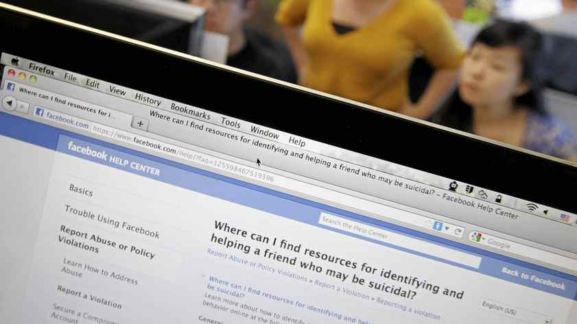 Facebook is making it easier for users who express suicidal thoughts to get help.