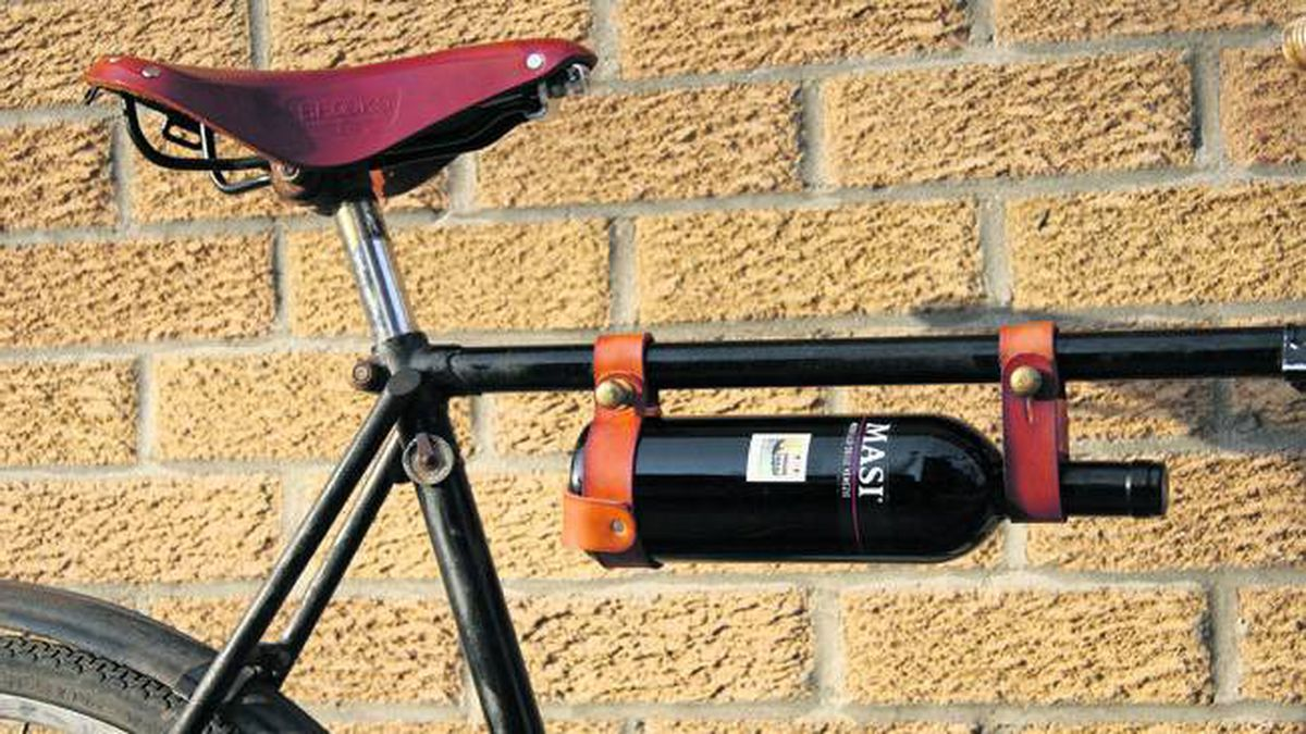 An adjustable mobile wine rack, available at www.oopsmark.com