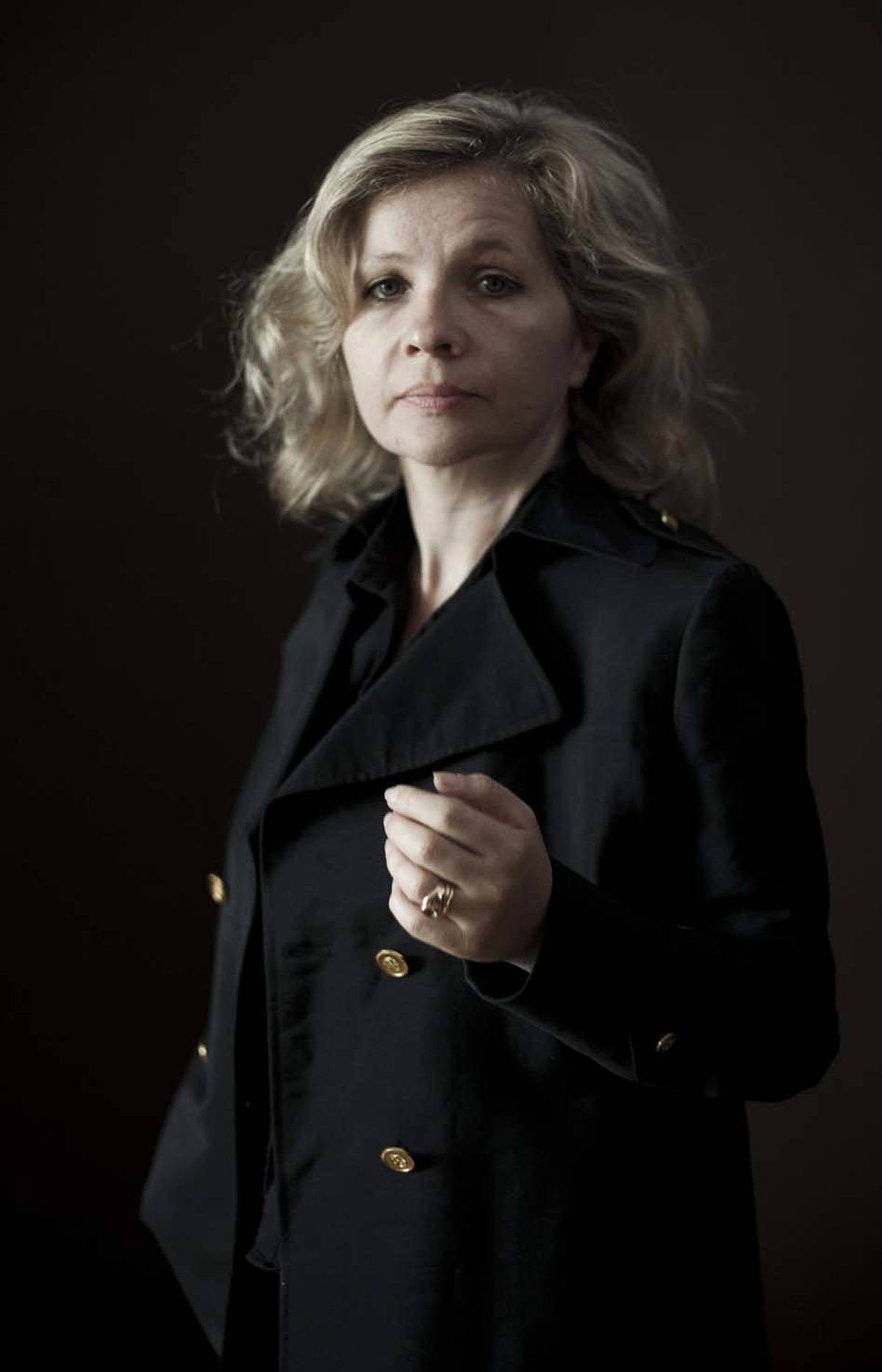 """French director Eva Ionesco poses meaningfully during a photo session to promote her movie """"My Little Princess"""" at the Cannes Film Festival on Tuesday."""