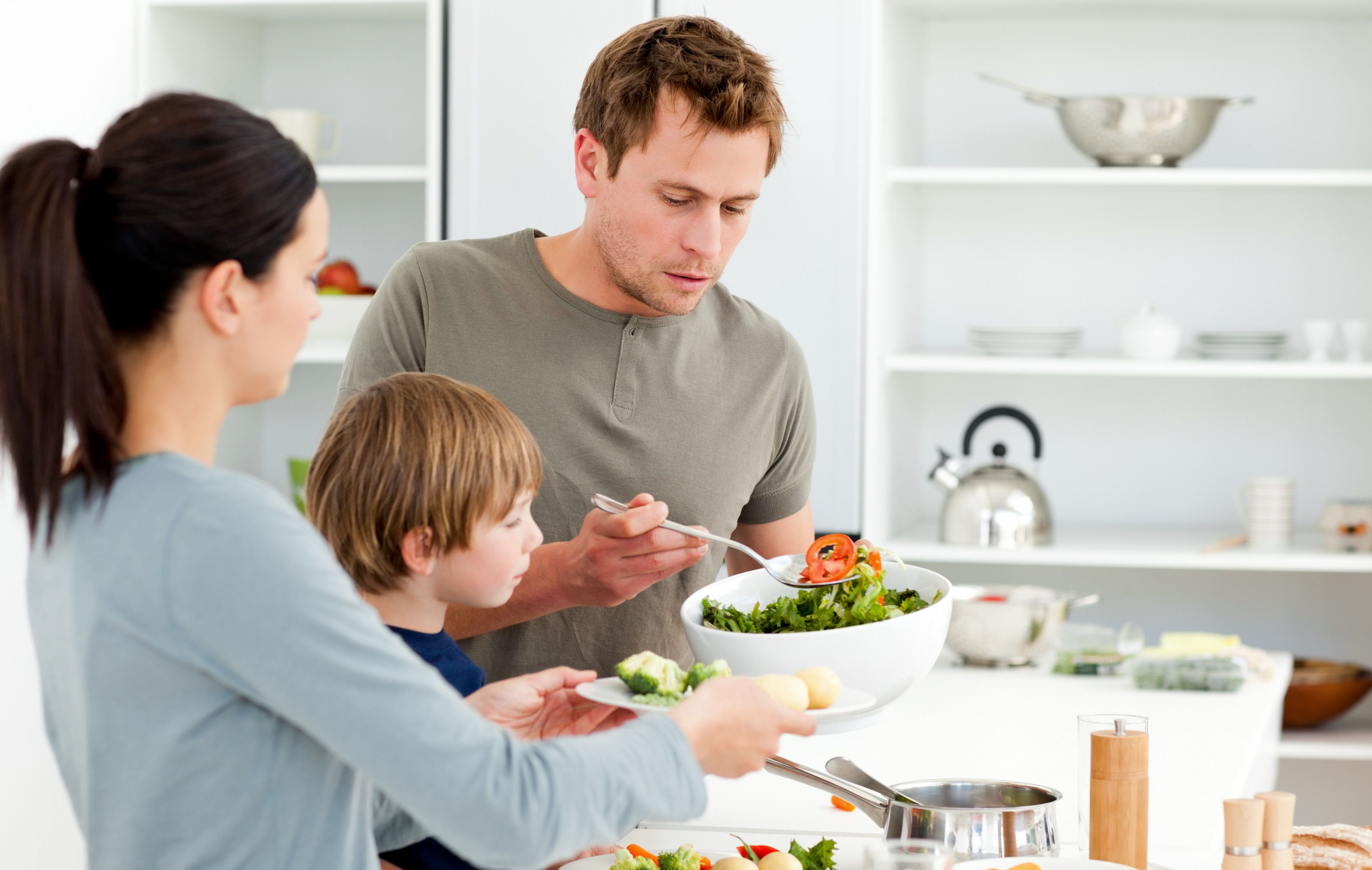 Our daughter and son-in-law are strict vegetarians. What if our grandson wants to eat regular food?