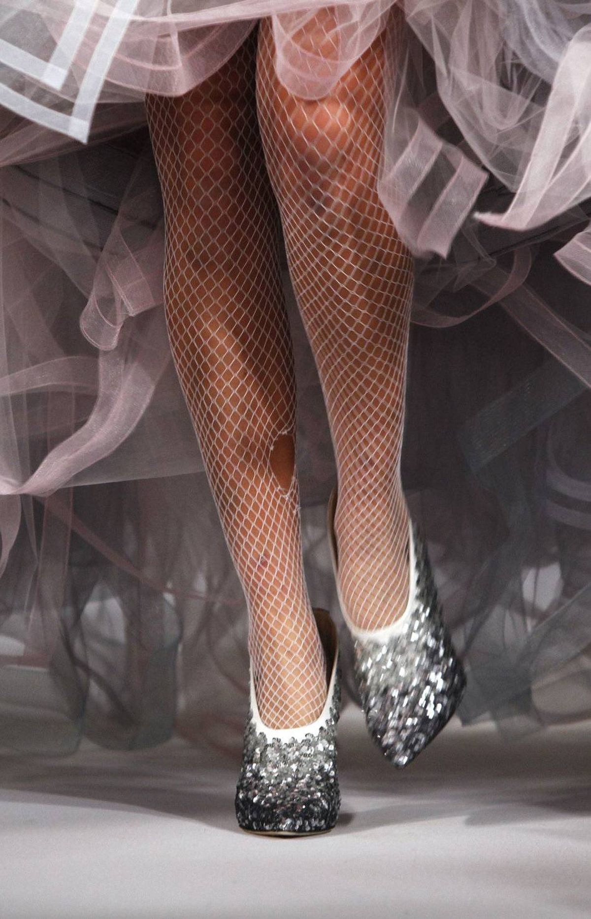 Go all-bijoux or go home; De La Rented carried the bejeweled theme right down to the glittery booties.