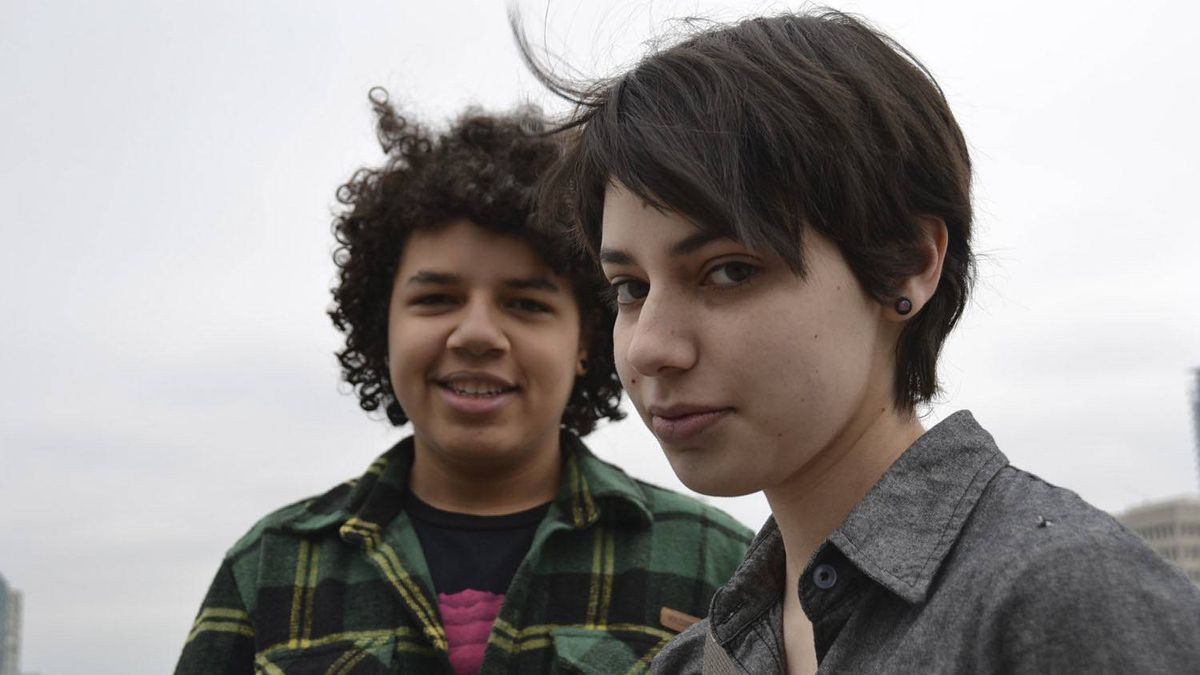 Taechun Menns, left, and Leanne Iskander, fought to start a gay-straight alliance group at at St Joseph's Catholic Secondary School in Mississauga.