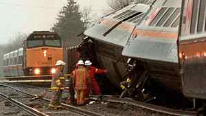 A VIA Rail train derailed between Toronto and Windsor on April 23, 1999. At least two of the five crew members on board were killed while an estimated 100 passengers were treated for various injuries.