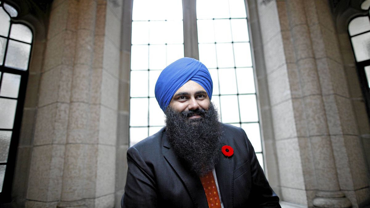 Conservative Member of Parliament and Minister of State (Democratic Reform) Tim Uppal on Parliament Hill in Ottawa November 3, 2011.
