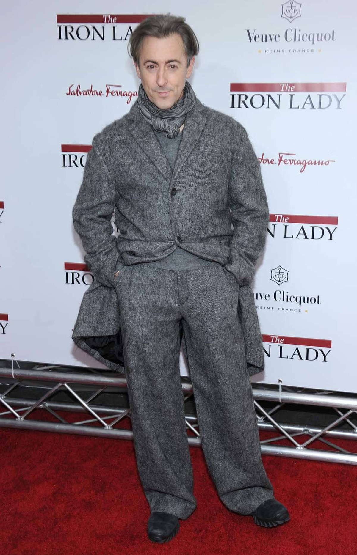 "Alan Cumming attends the New York premiere of ""The Iron Lady"" last week wearing the world's itchiest suit."