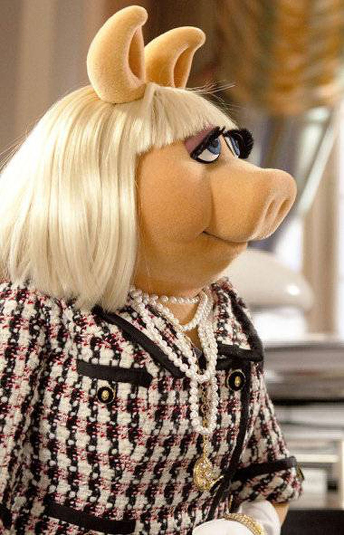 "Miss Piggy in a scene from ""The Muppets"" movie."