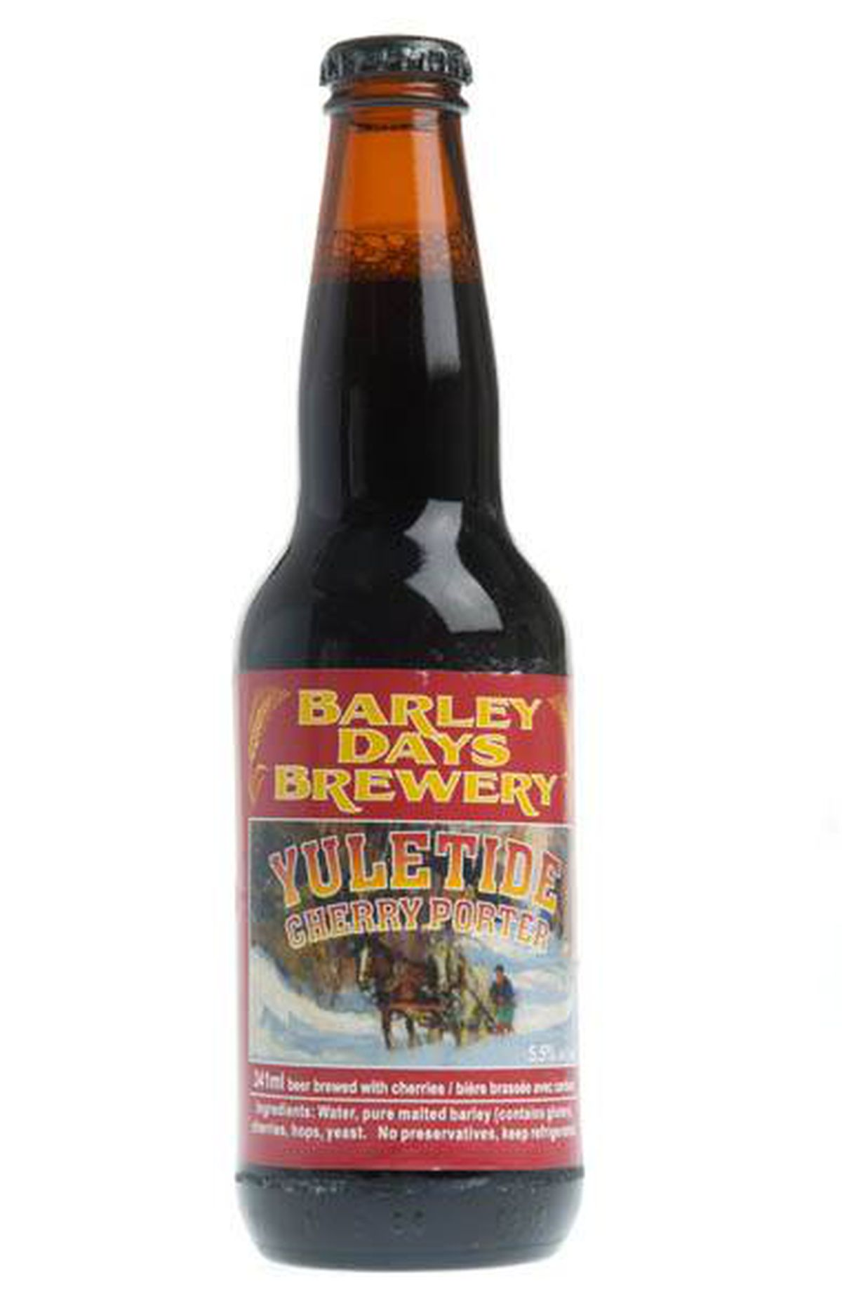 Barley Days cherry porter: a harbinger of flavoured spirits yet to come?