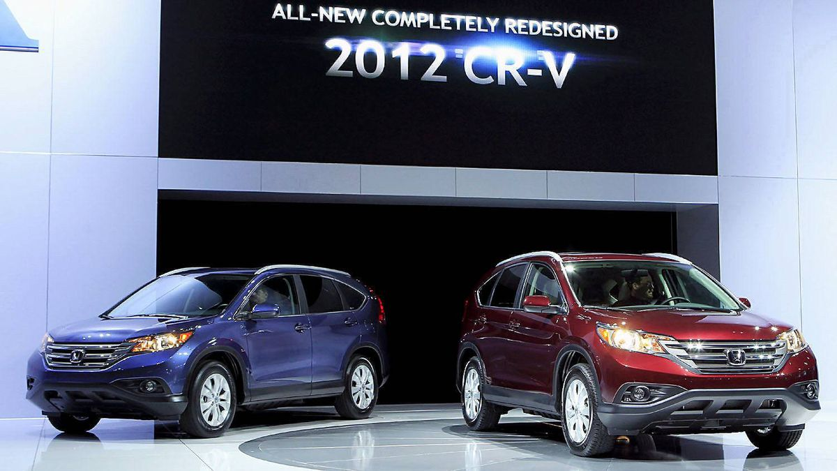 The Honda 2012 CRV is unveiled at the LA Auto Show in Los Angeles, California November 16, 2011.