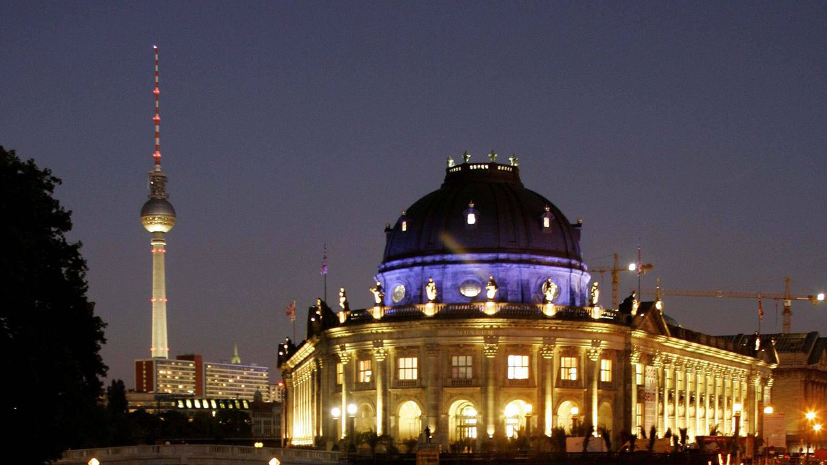 The Bode Museum in Berlin sits on the Spree river.