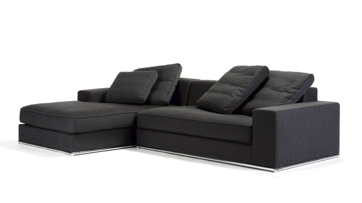 These chic updated takes may just change your mind about the classic corner couches. Created by Thien and My Ta Trung, the brother-and-sister design team behind Montreal-based Domison, the Laurent sectional features feather-filled cushions and is set on a sleek chrome steel base. $2,650 through www.domison.com.
