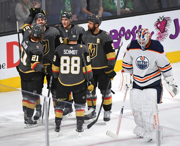 Oilers lose ground in wild-card race, falling 6-3 to Vegas