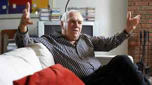 Former NDP leader Ed Broadbent gives an interview at his Ottawa home on March 14, 2012.