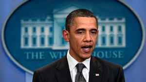 U.S. President Barack Obama speaks to the press at the White House in Washington after late-night talks failed to break a budget impasse with Republicans.