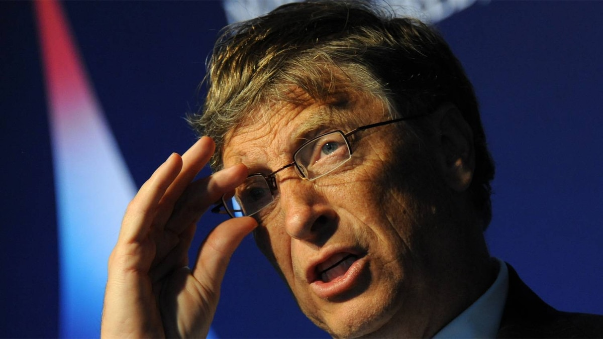 Microsoft chairman Bill Gates talks during an interview with AFP on November 3, 2011 on the sidelines of the G20 Summit of Heads of State and Government in Cannes.