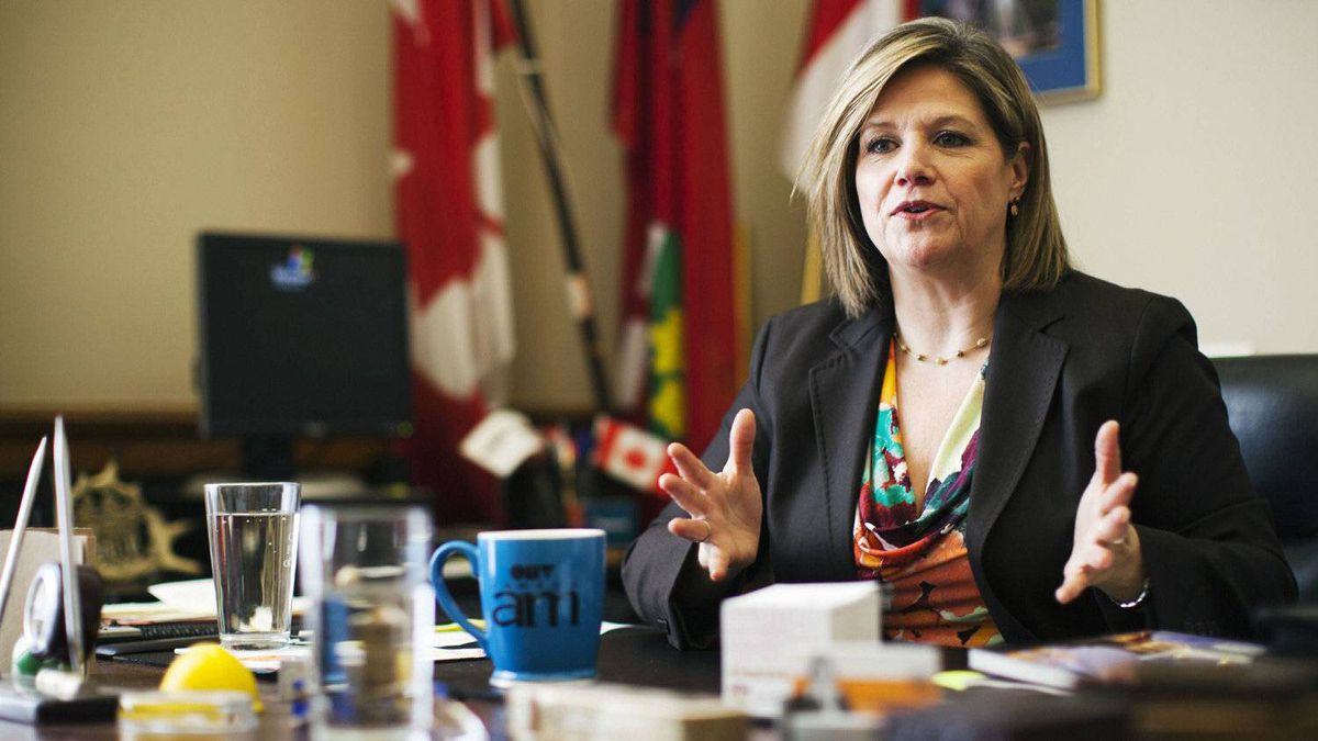Ontario NDP leader Andrea Horwath speaks during an interview at Queens Park in Toronto, March 12, 2012.