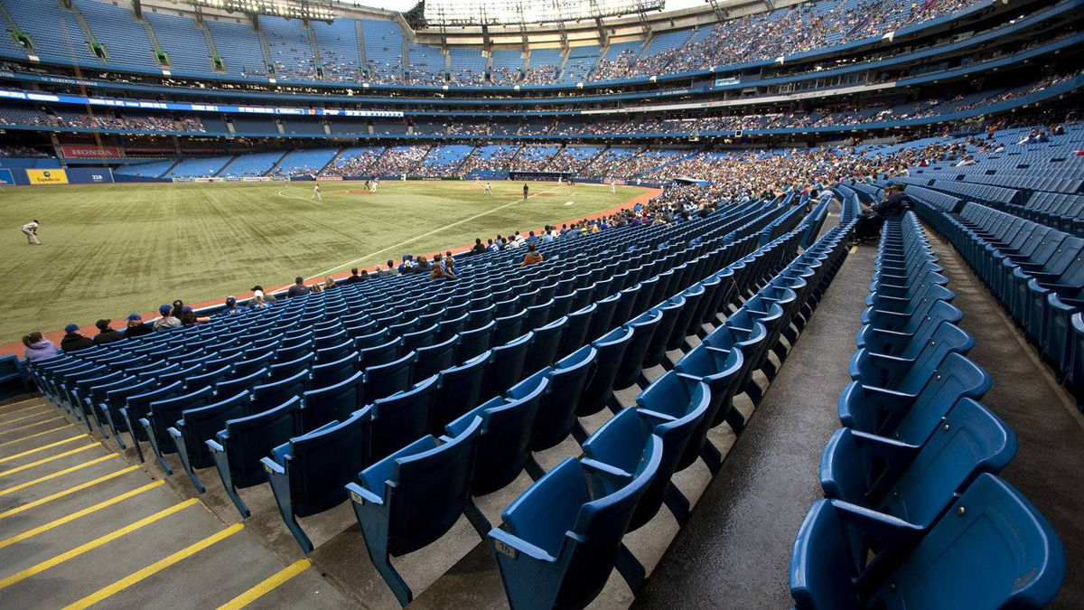 Empty seats at Rogers Centre during game between the Toronto Blue Jays and the division leading Baltimore Orioles May 30, 2012.