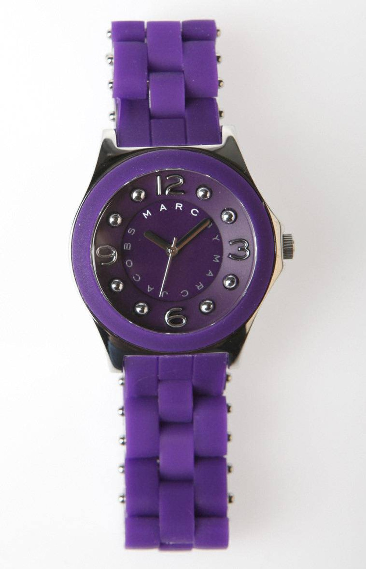 Marc by Marc Jacobs watch (dark purple), $210 at the Bay