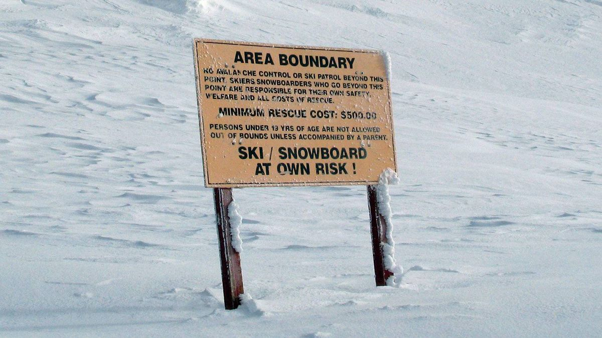 A warning is posted on top of the Gem Lake chair, telling skiers and snowboarders to stay away from the area Wednesday Jan. 19, 2011 at the Big White ski resort near Kelowna B.C.
