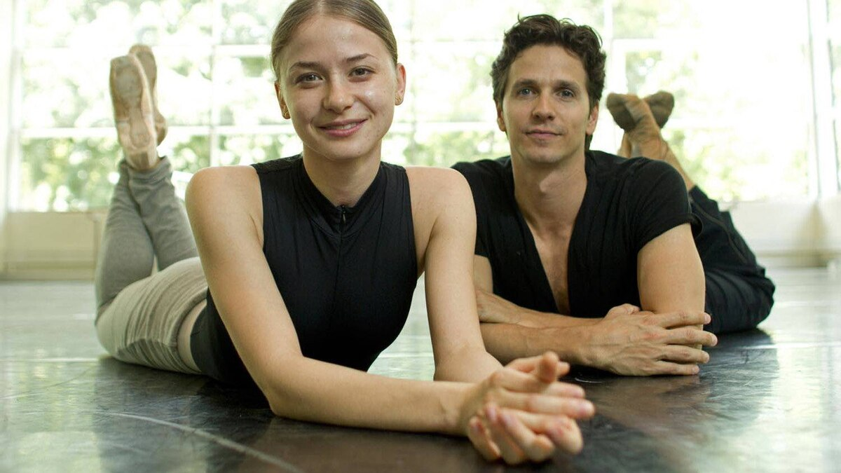 National Ballet dancers Elena Lobsanova and Guillaume Cote in a studio at the Four Seasons Centre for the Performing Arts in Toronto on May 30, 2012.