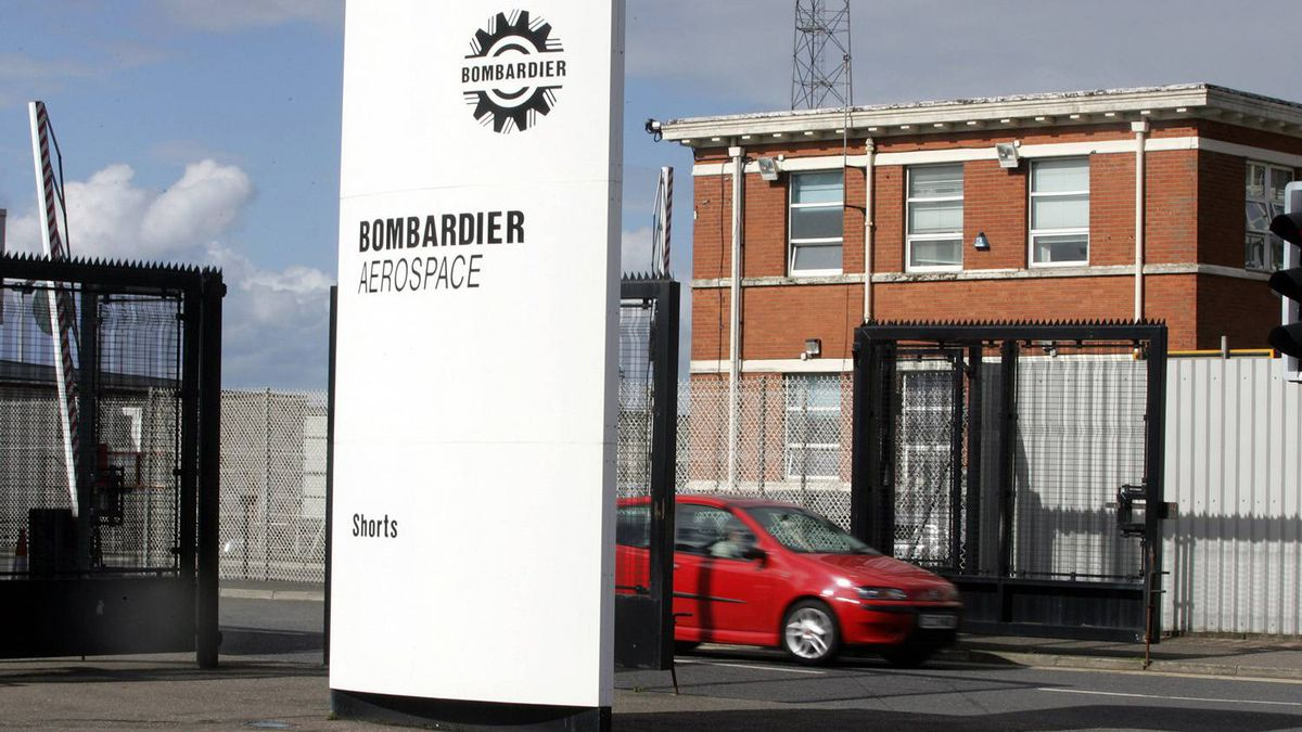 Bombardier aerospace in East Belfast, Northern Ireland