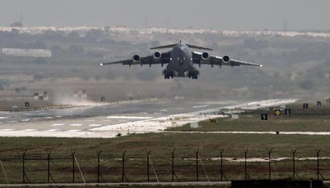 Turkish warplanes strike Islamic State targets across the border in Syria